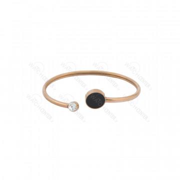 دستبند زنانه استیل طلایی مشکی