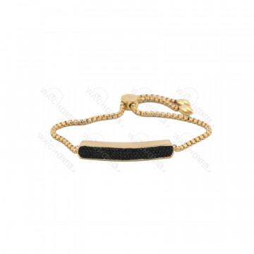 دستبند زنانه نگین دار(مشکی) طلایی