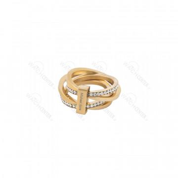 انگشتر زنانه مایکل کرس حلقه پیچی استیل طلایی