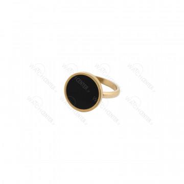 انگشتر زنانه استیل طلایی مشکی