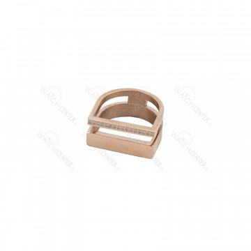 انگشتر زنانه نگین سفید استیل رزگلد رنگ-رزگلد سایز حلقه انگشتر-سایز ۶